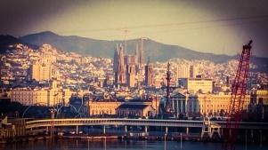 Barcelona, Spain   Sagrada Familia by Gaudi under construction