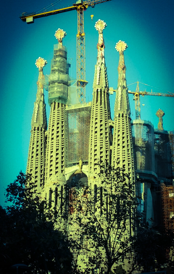 Barcelona, Spain | Sagrada Familia by Gaudi under construction