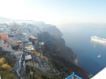 Santorini Island | There are cruise liners visible from almost everywhere on the island
