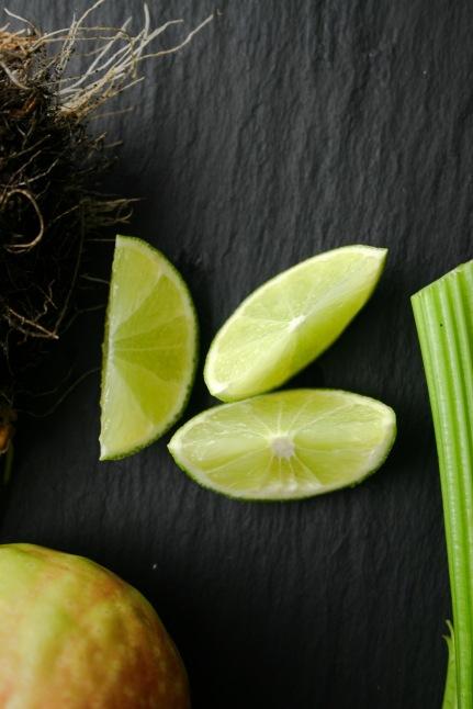 Green juice   limes
