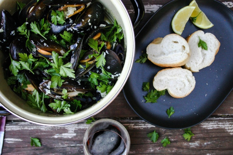 The Good Greeff-     Marseille mussels with parsley and crusty bread
