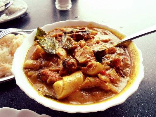 Anse Soleil seafood (crabstick) curry