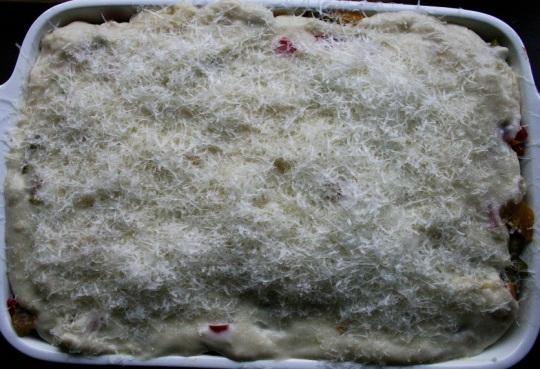 TheGoodGreeff mixed vegetable moussaka bechamel & parmesan
