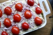 TheGoodGreeff mixed vegetable moussaka parmesan & tomatoes