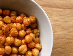 Harissa roasted chickpeas