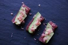 TheGoodGreeff Tuna Sashimi with Wasabi Avocado and Chopped Ginger
