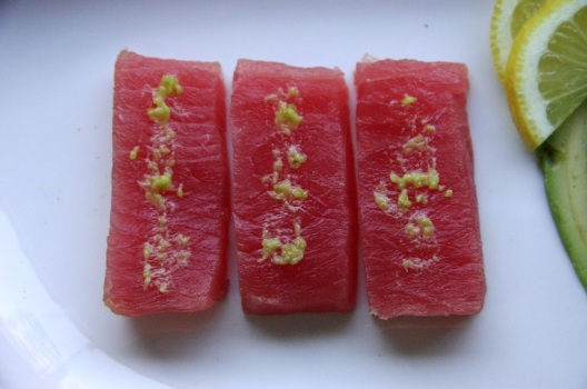 TheGoodGreeff Tuna Sashimi With Wasabi