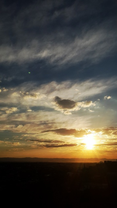 Views of Windhoek   sunset