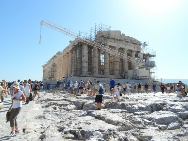 Acropolis under construction