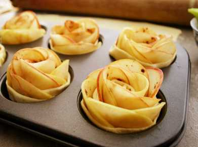Apple Roses ready to bake