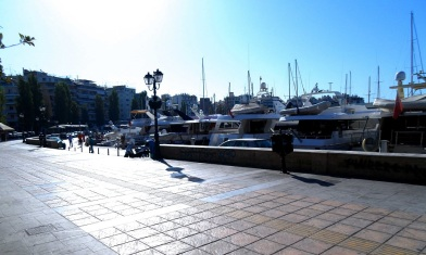 Piraeus harbour near Athens