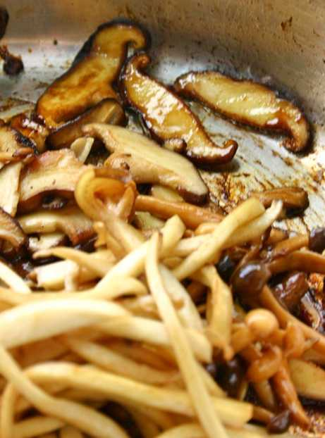Mixed mushrooms fried in truffle oil and butter