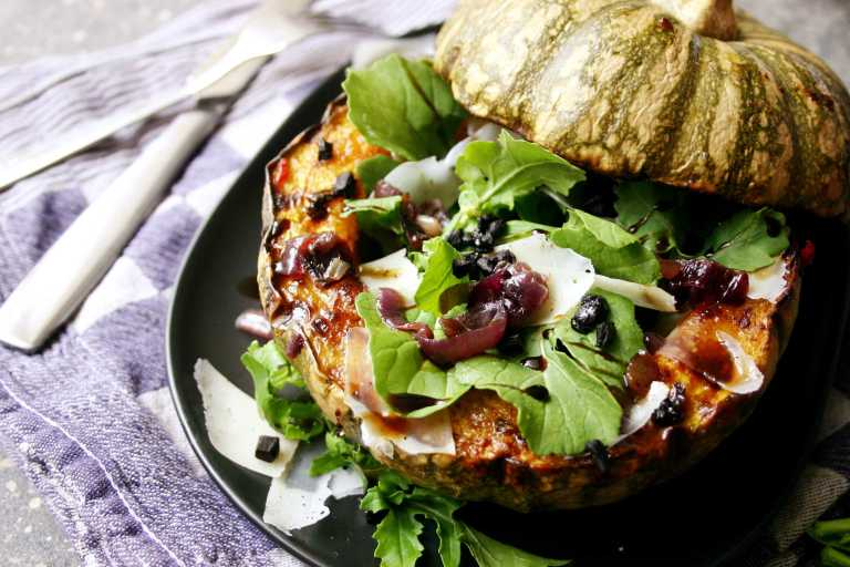 Salad stuffed Roast Pumpkin  -- thegoodgreeff.jpg