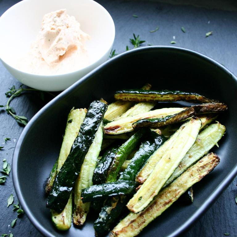 Fresh Roasted Zucchini Fingers - with Sriracha dip.jpg