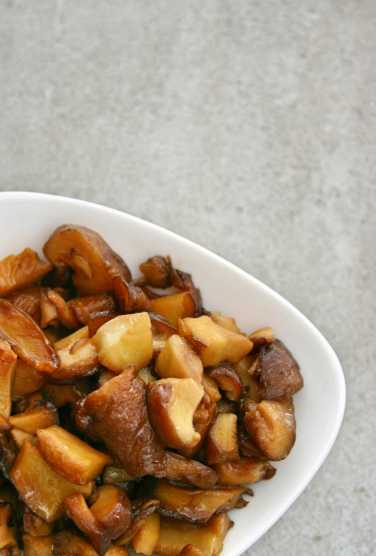 Fried Shiitake mushrooms