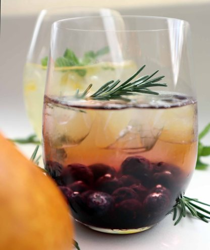 Blueberry rosemary simple syrup