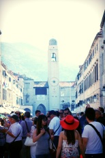 Old town Dubrovnik and its visitors