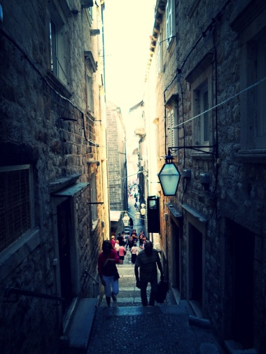 A somewhat less crowded passage in Dubrovnik