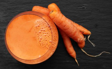 fresh pressed carrot juice