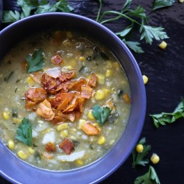 Delicious, smokey potato, leek and sweetcorn soup for those brrrrrr winter evenings