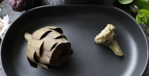 The heart of the artichoke is the softest part of the flower, whilst the ends of the leaves are tougher and very chewy.